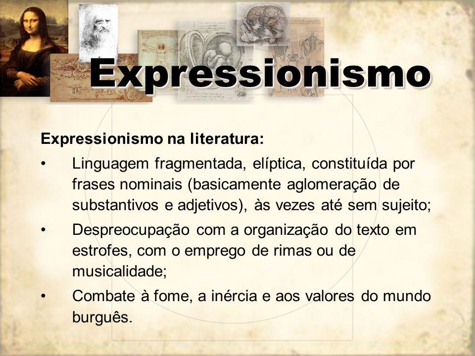 Expressionismo Expressionismo na literatura: