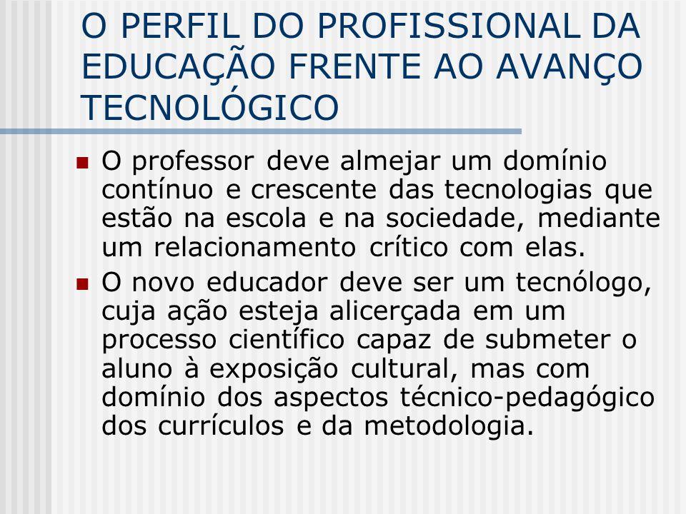 O PERFIL DO PROFISSIONAL DA EDUCAÇÃO FRENTE AO AVANÇO TECNOLÓGICO