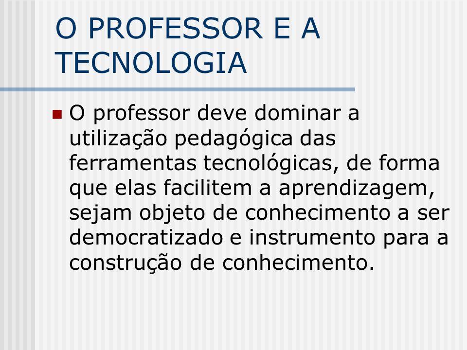 O PROFESSOR E A TECNOLOGIA