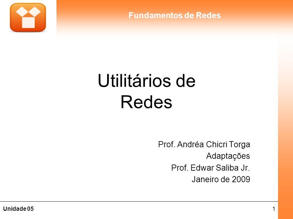 Utilitários de Redes Prof. Andréa Chicri Torga Adaptações