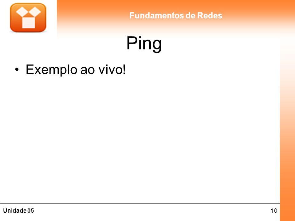 Ping Exemplo ao vivo!
