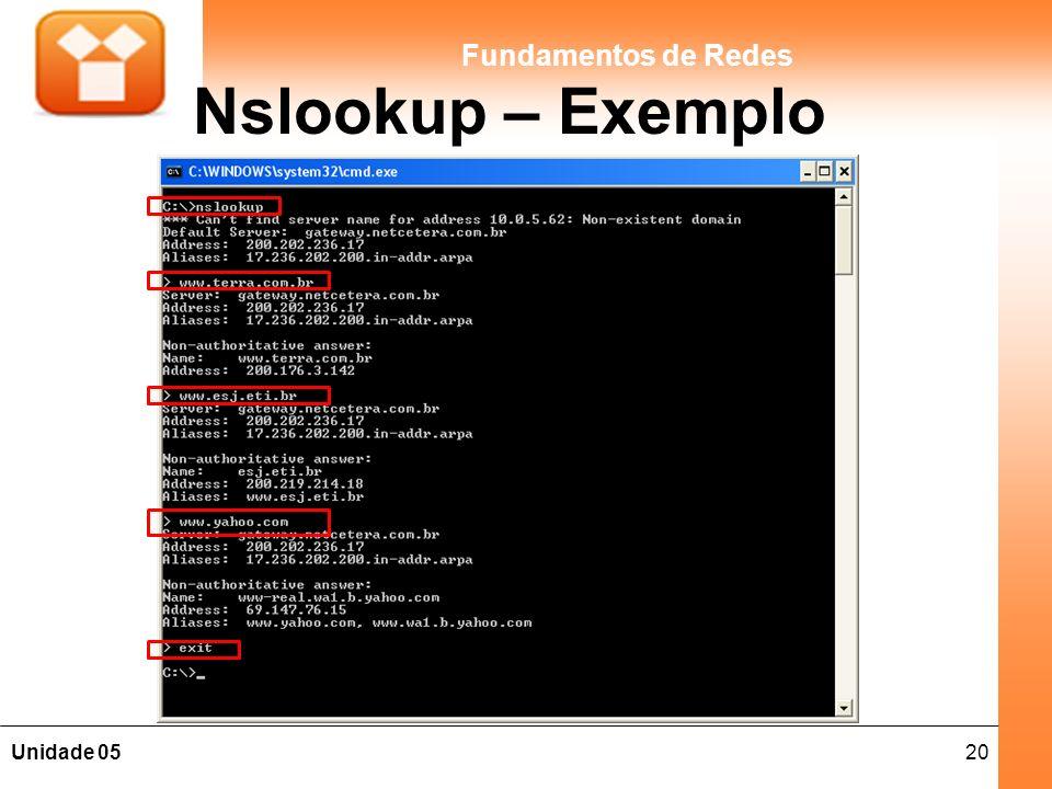 Nslookup – Exemplo