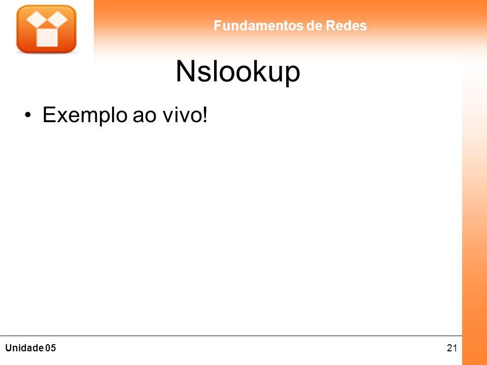 Nslookup Exemplo ao vivo!