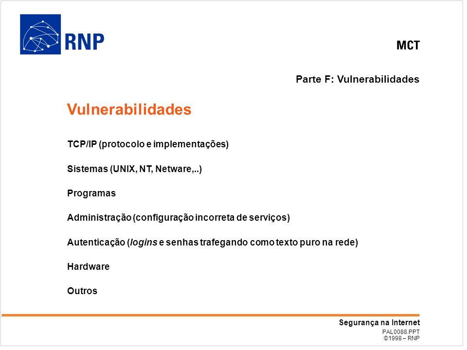 Vulnerabilidades Parte F: Vulnerabilidades