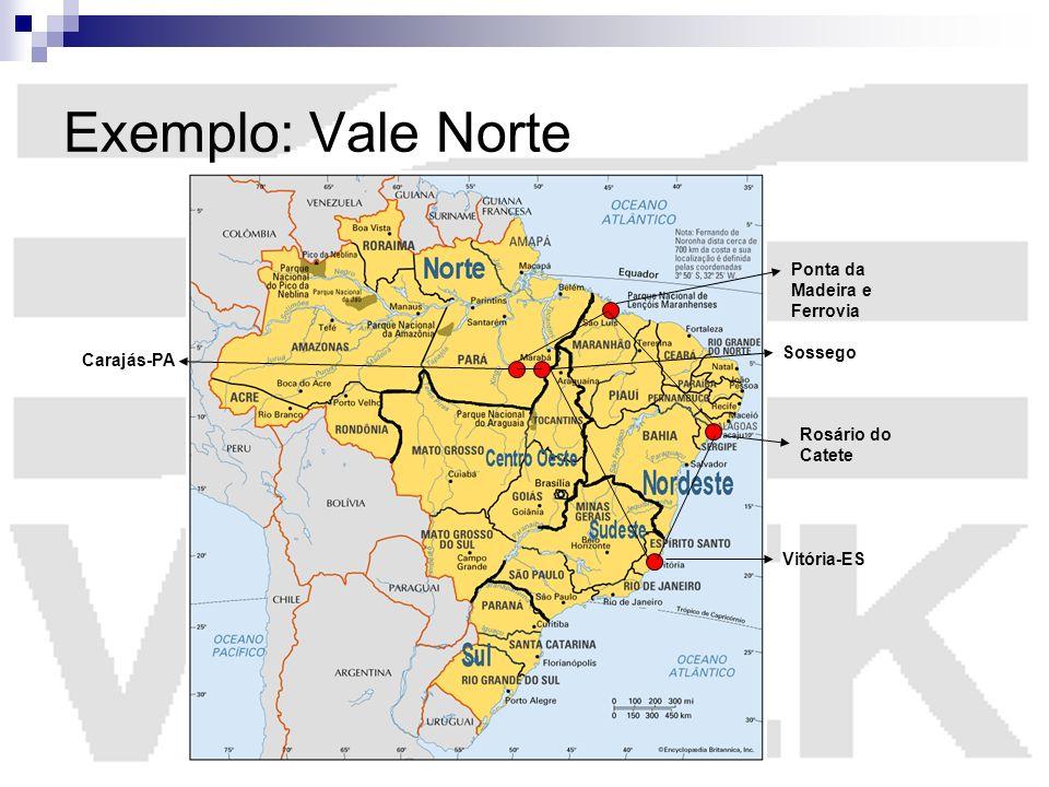 Exemplo: Vale Norte Ponta da Madeira e Ferrovia Sossego Carajás-PA