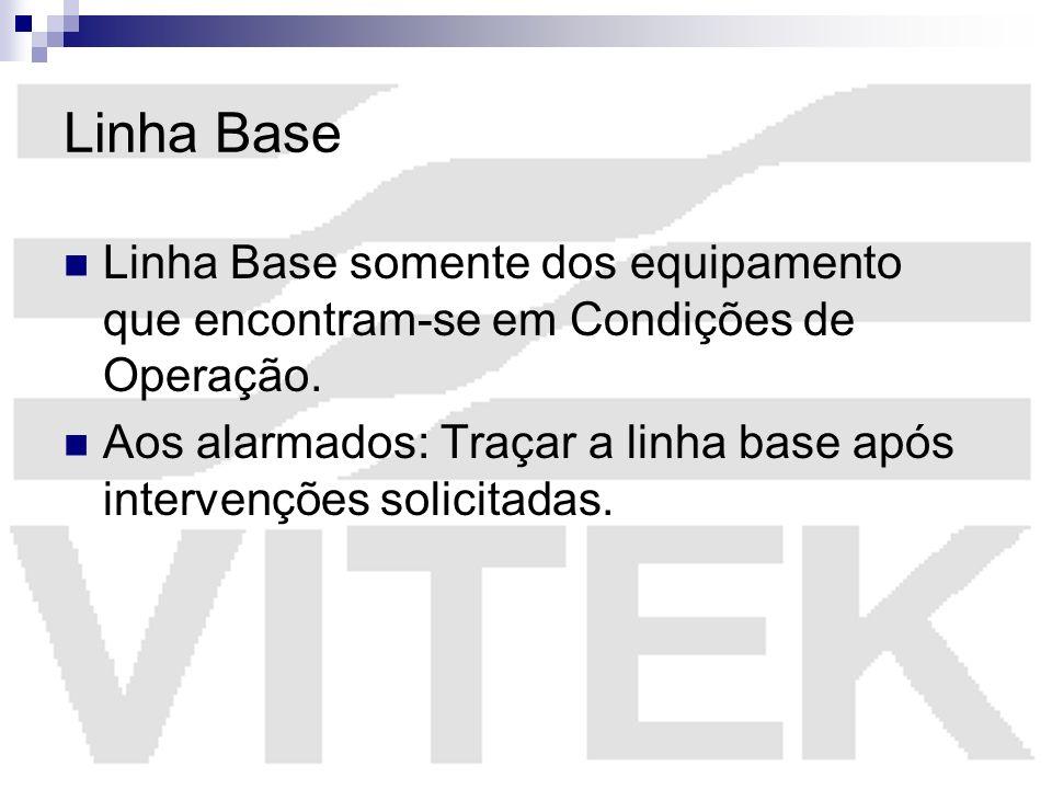Linha Base Linha Base somente dos equipamento que encontram-se em Condições de Operação.
