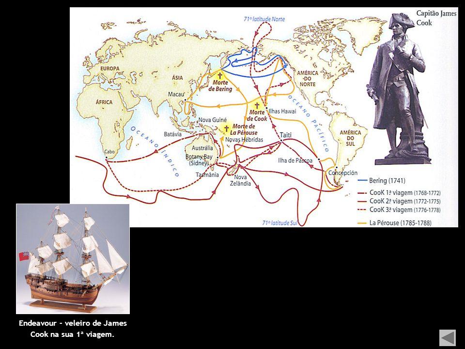 Endeavour - veleiro de James Cook na sua 1ª viagem.