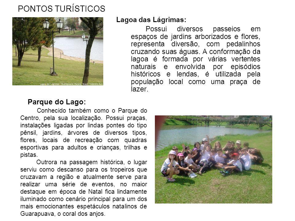 PONTOS TURÍSTICOS Parque do Lago: Lagoa das Lágrimas: