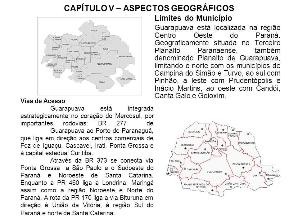 CAPÍTULO V – ASPECTOS GEOGRÁFICOS