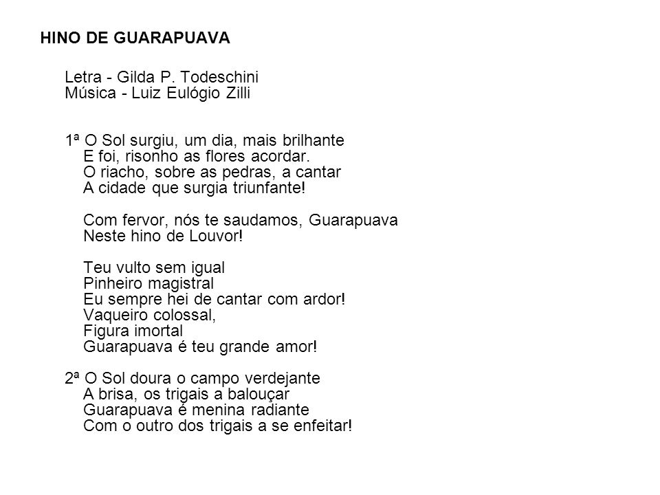 HINO DE GUARAPUAVA