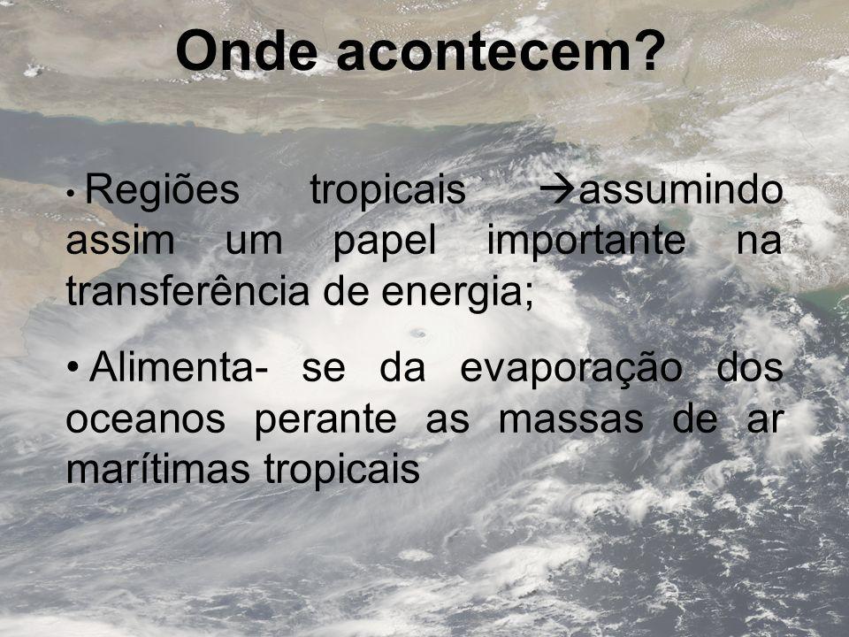 Onde acontecem Regiões tropicais assumindo assim um papel importante na transferência de energia;
