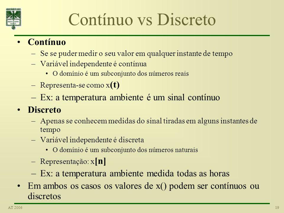 Contínuo vs Discreto Contínuo
