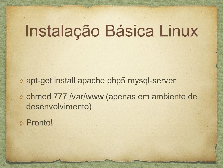 Instalação Básica Linux