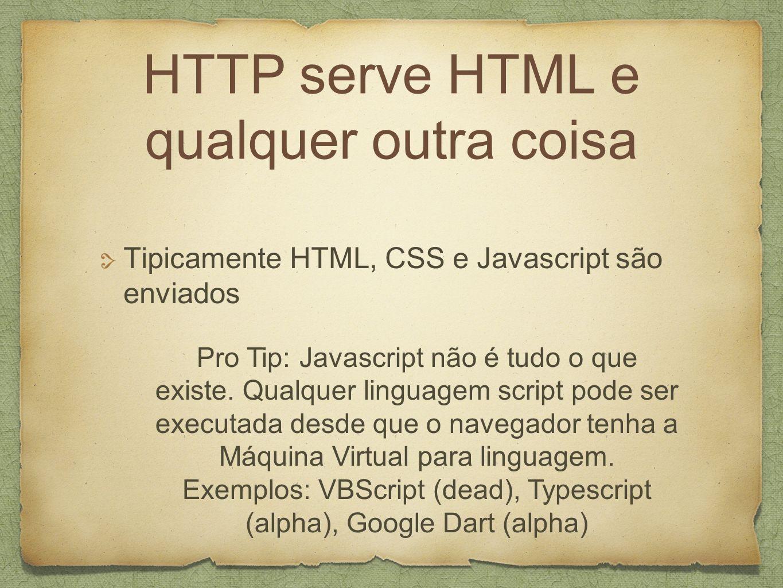 HTTP serve HTML e qualquer outra coisa