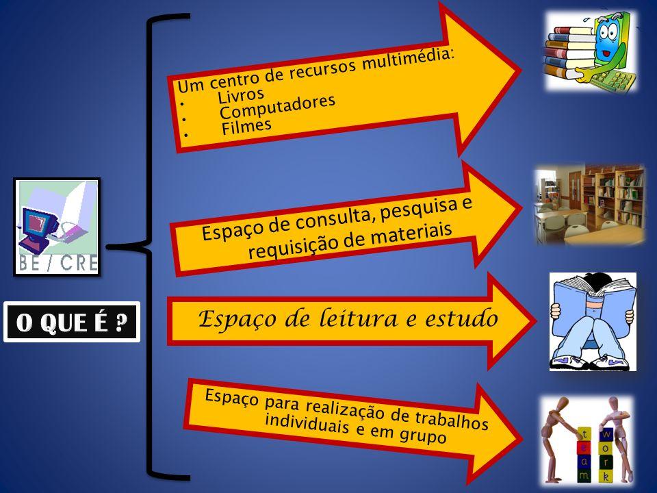 O QUE É Espaço de consulta, pesquisa e requisição de materiais