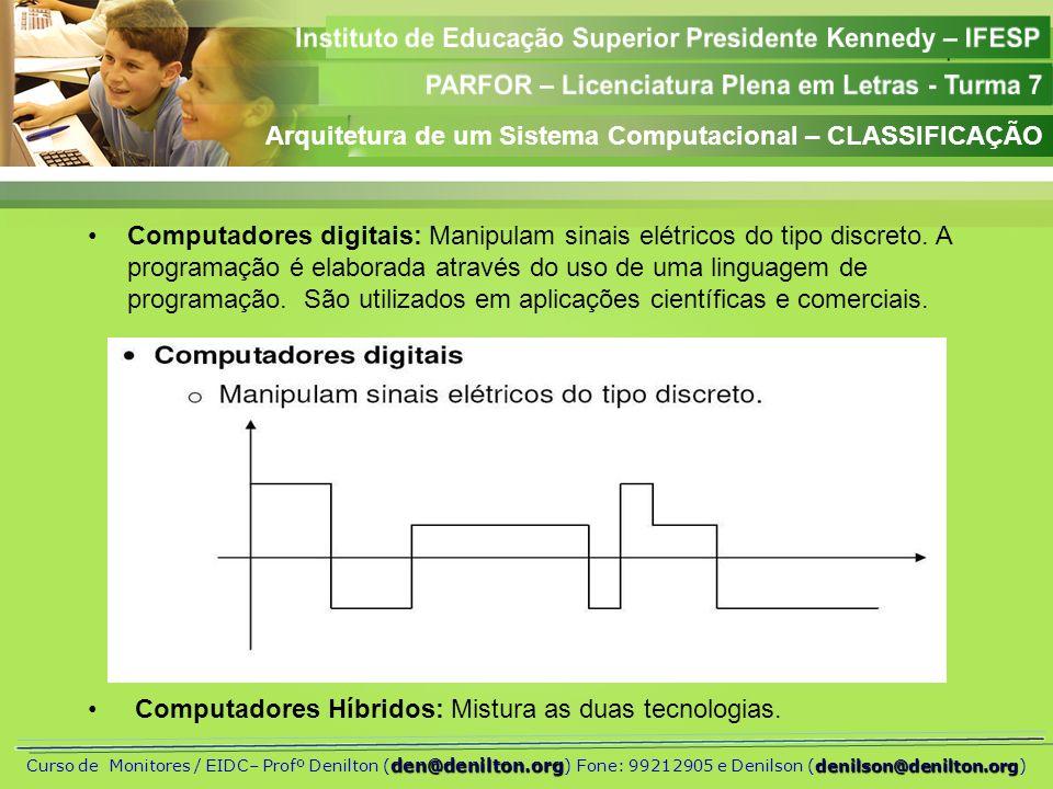 Arquitetura de um Sistema Computacional – CLASSIFICAÇÃO