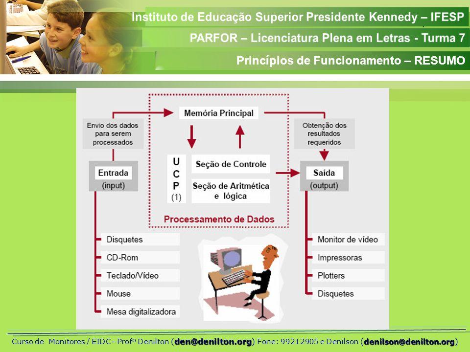 Princípios de Funcionamento – RESUMO