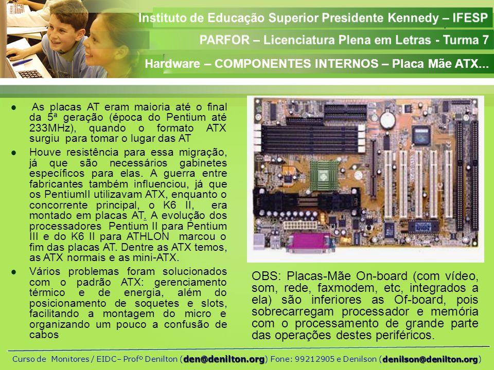 Hardware – COMPONENTES INTERNOS – Placa Mãe ATX...