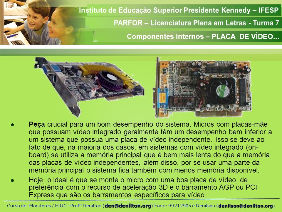 Componentes Internos – PLACA DE VÍDEO...