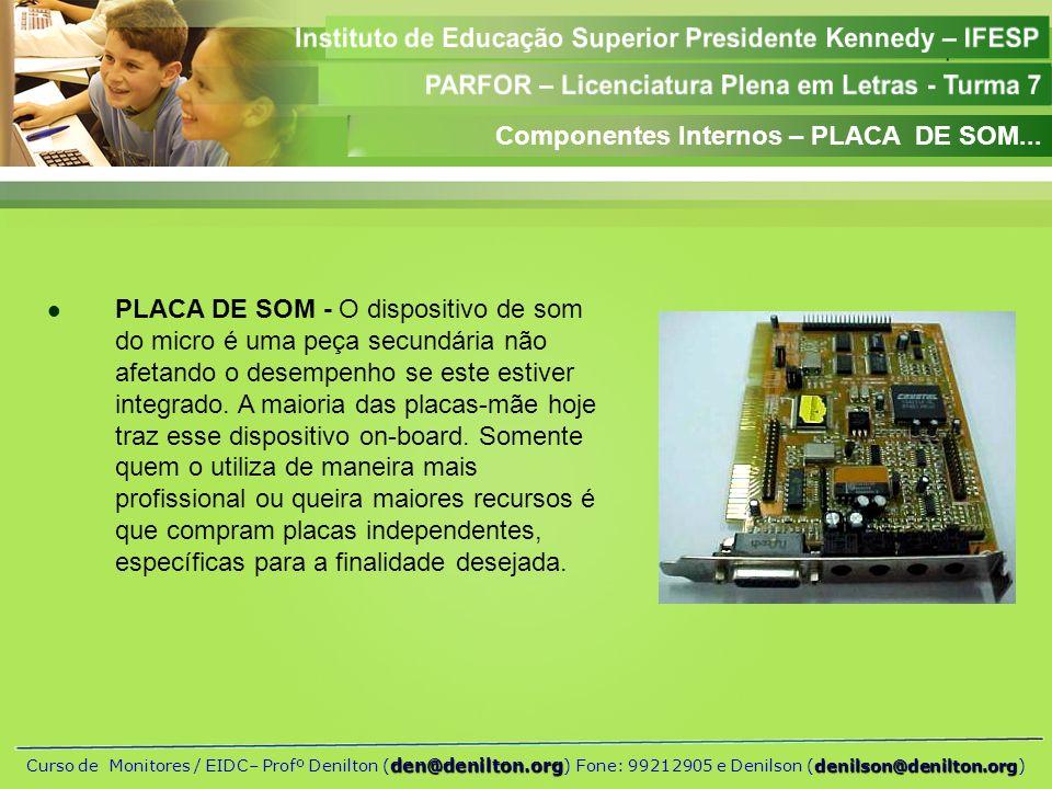Componentes Internos – PLACA DE SOM...