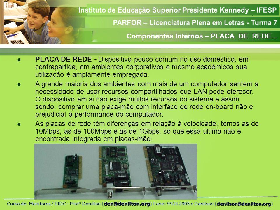 Componentes Internos – PLACA DE REDE...