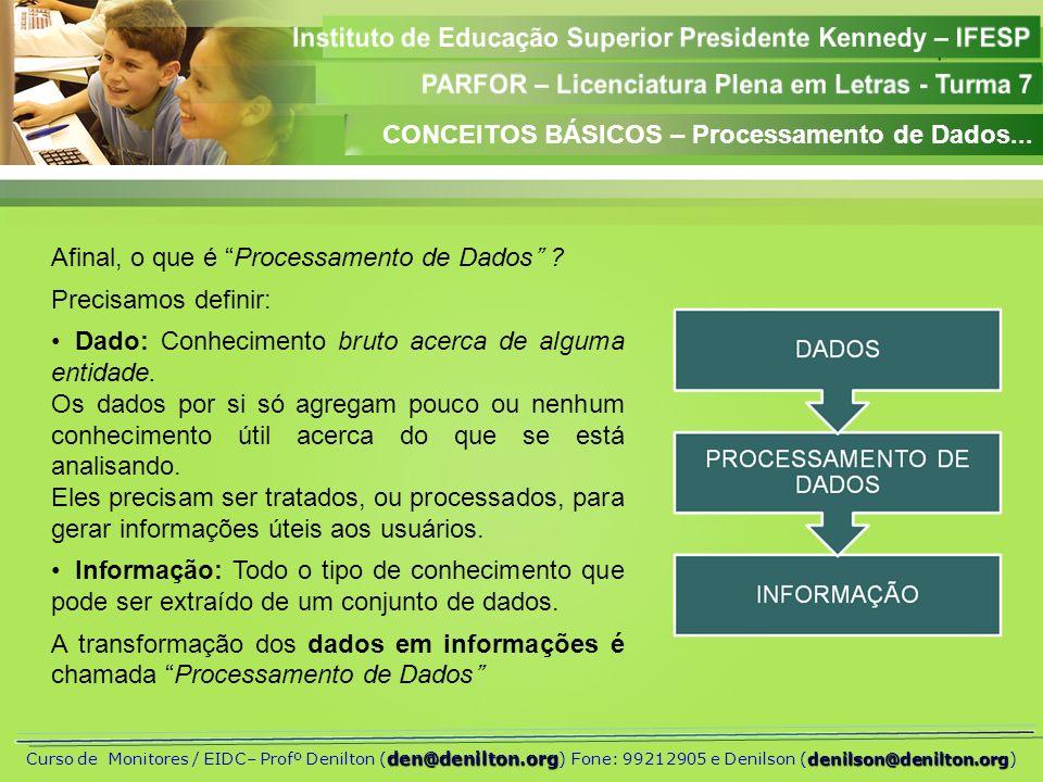 CONCEITOS BÁSICOS – Processamento de Dados...