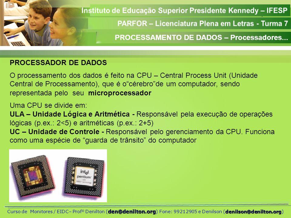 PROCESSAMENTO DE DADOS – Processadores...
