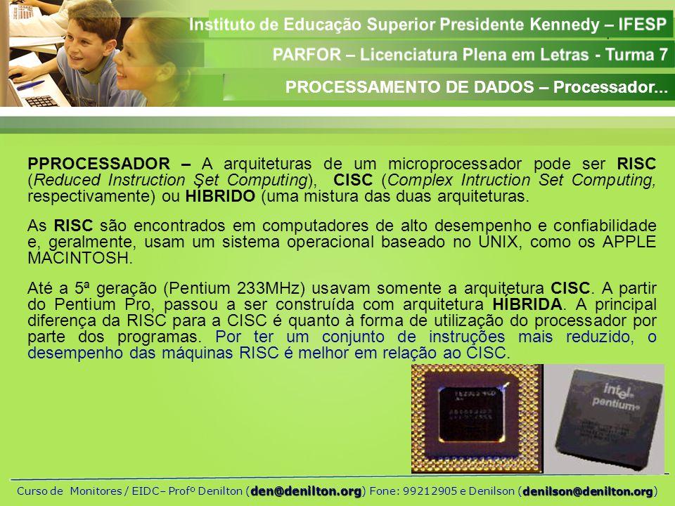 PROCESSAMENTO DE DADOS – Processador...