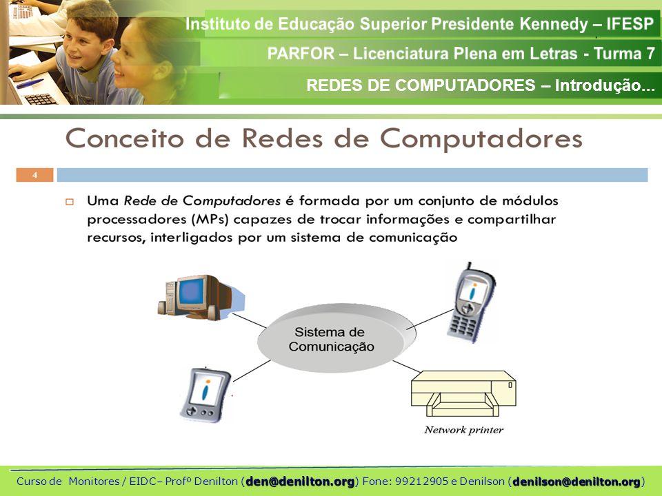 REDES DE COMPUTADORES – Introdução...