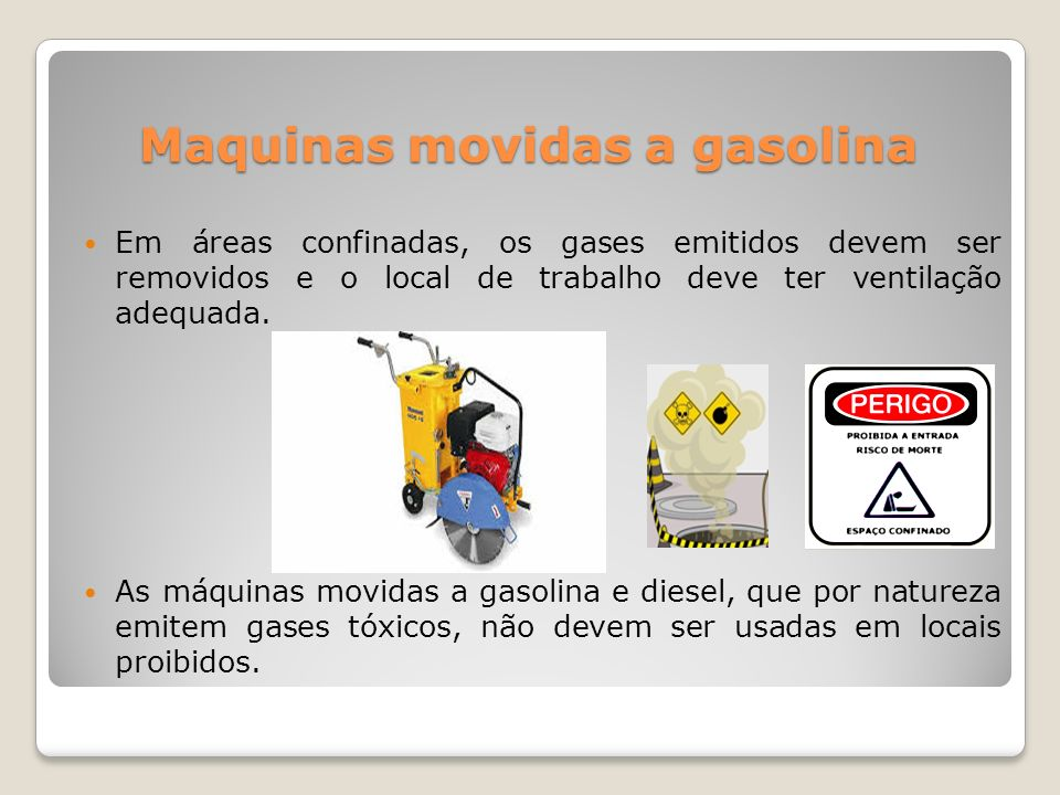Maquinas movidas a gasolina