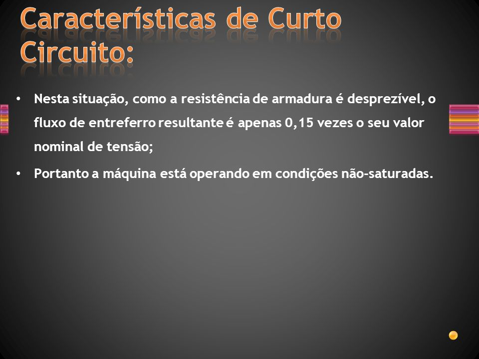 Características de Curto Circuito: