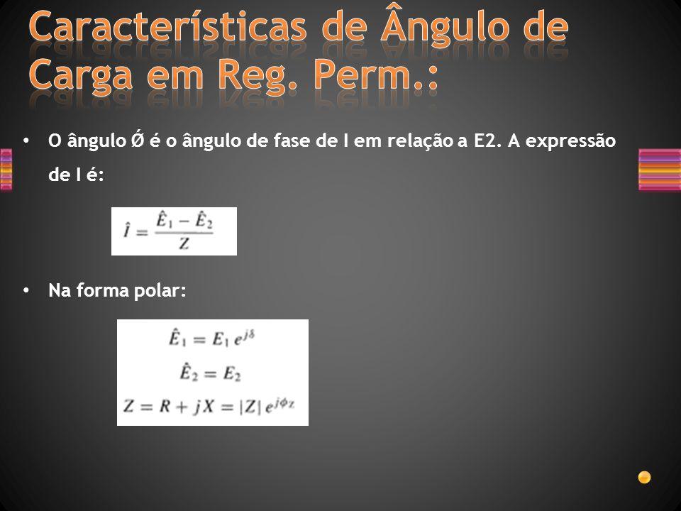 Características de Ângulo de Carga em Reg. Perm.: