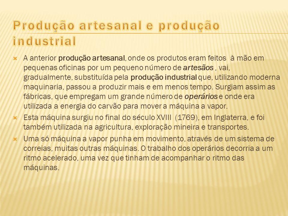 Produção artesanal e produção industrial