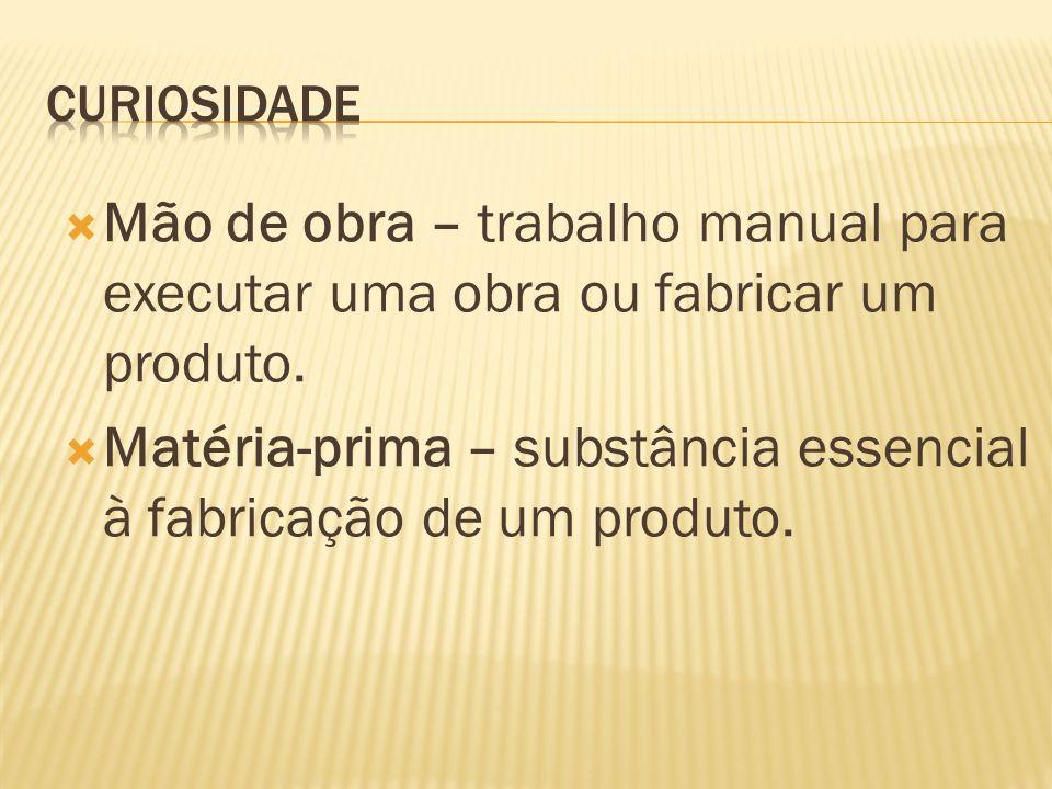 Matéria-prima – substância essencial à fabricação de um produto.
