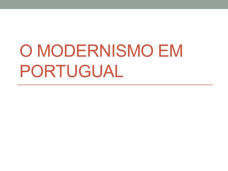 O MODERNISMO EM PORTUGUAL
