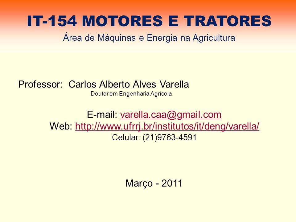 IT-154 MOTORES E TRATORES Professor: Carlos Alberto Alves Varella