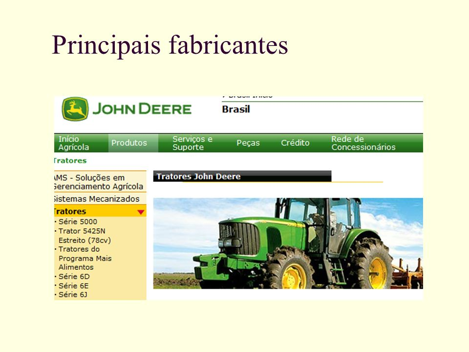 Principais fabricantes