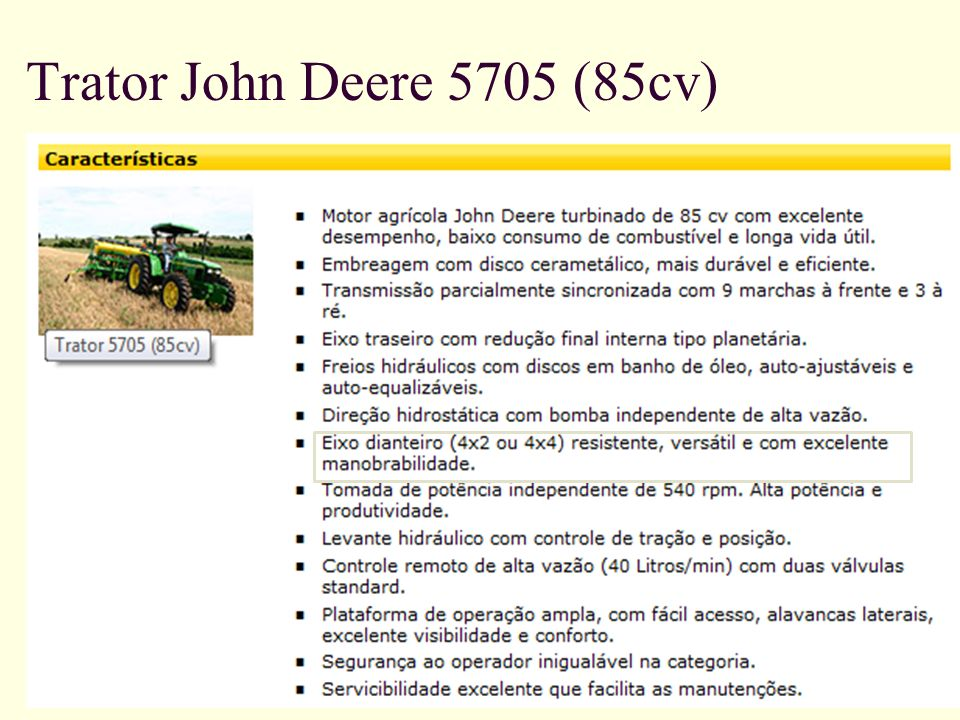 Trator John Deere 5705 (85cv)
