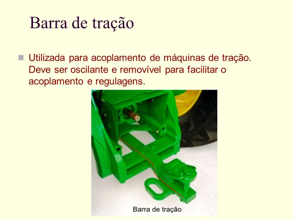 Barra de tração Utilizada para acoplamento de máquinas de tração.