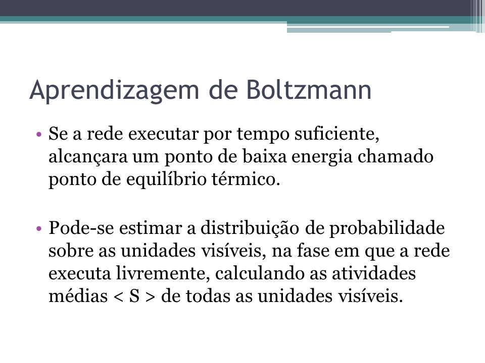 Aprendizagem de Boltzmann