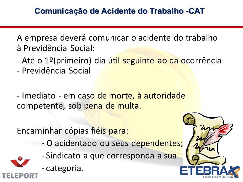 Comunicação de Acidente do Trabalho -CAT
