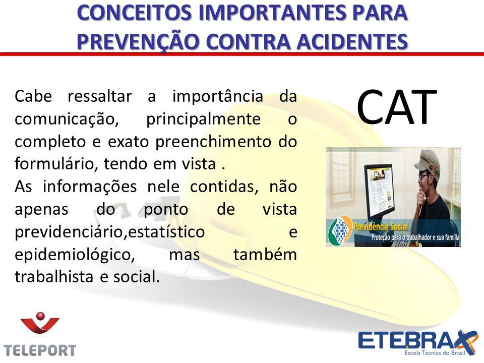 CONCEITOS IMPORTANTES PARA PREVENÇÃO CONTRA ACIDENTES