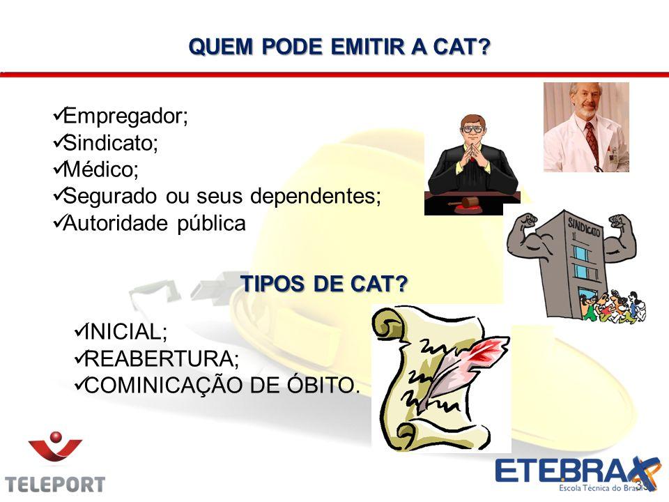 QUEM PODE EMITIR A CAT TIPOS DE CAT