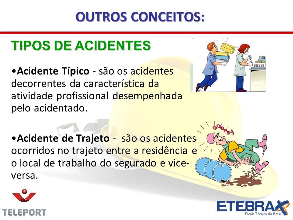 OUTROS CONCEITOS: TIPOS DE ACIDENTES
