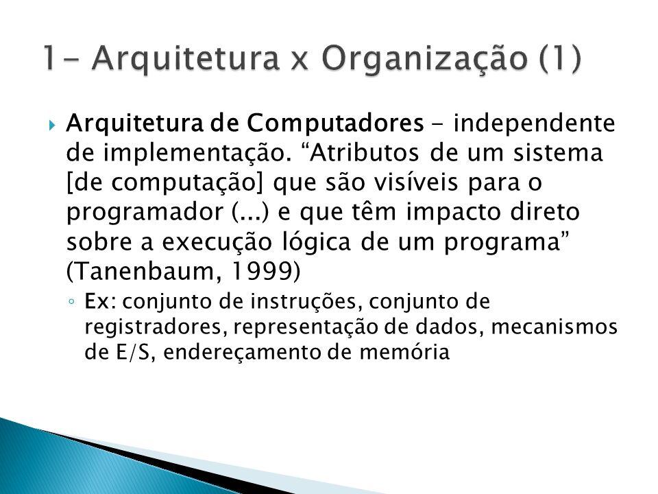 1- Arquitetura x Organização (1)