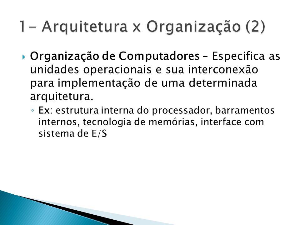 1- Arquitetura x Organização (2)
