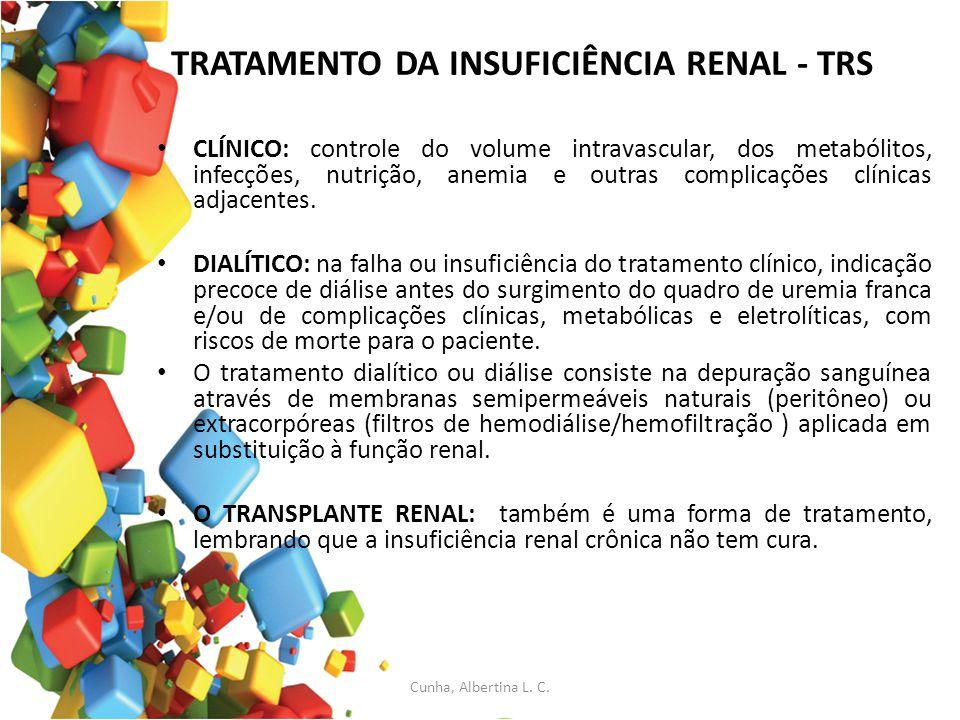 TRATAMENTO DA INSUFICIÊNCIA RENAL - TRS