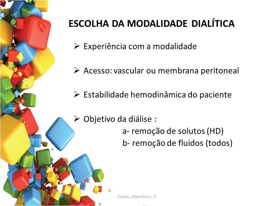 ESCOLHA DA MODALIDADE DIALÍTICA