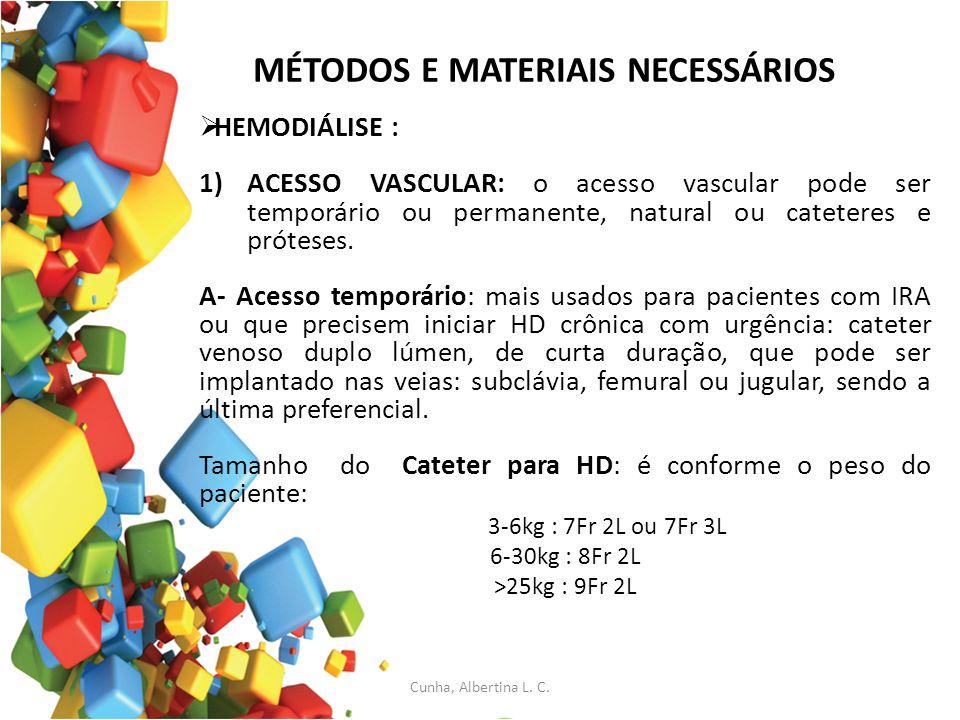 MÉTODOS E MATERIAIS NECESSÁRIOS