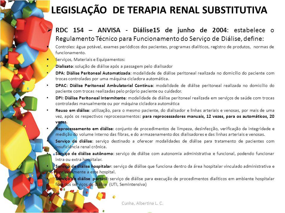 LEGISLAÇÃO DE TERAPIA RENAL SUBSTITUTIVA